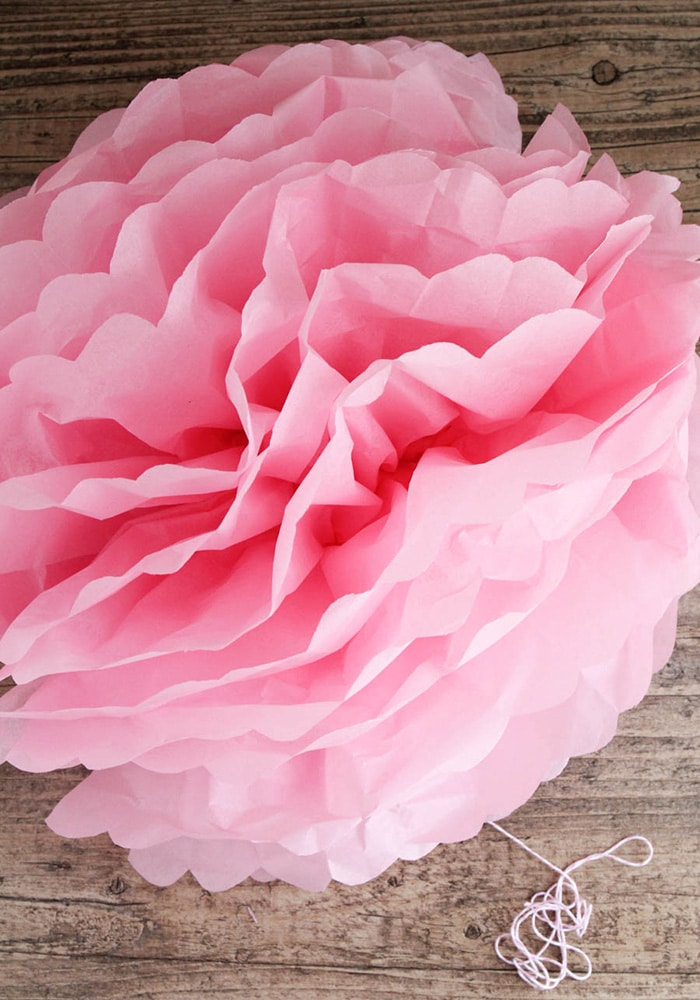 how to hang tissue paper pom poms Tissue paper pom poms trim the ends of the tissue paper to create a petal effect give the pom pom a light shake to add volume hang using the ribbon.