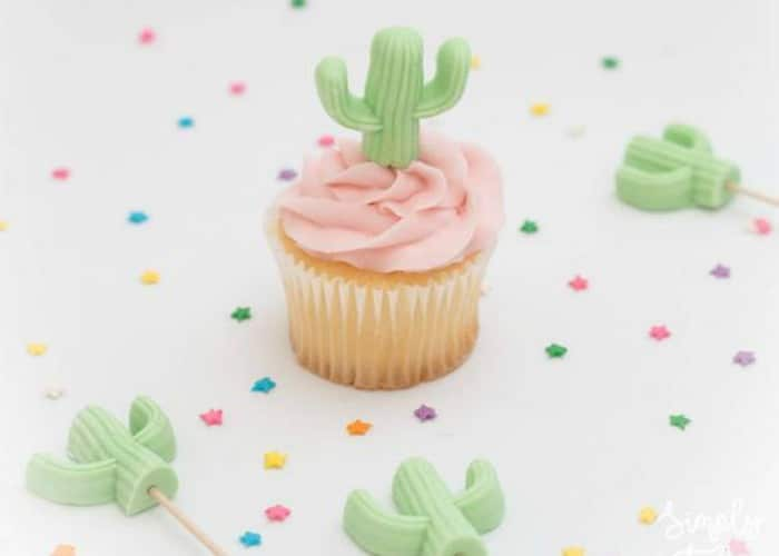 Cactus Fondant Cupcake Toppers