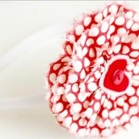 Easy Fabric Flowers + a Valentine's Day Headband Tutorial