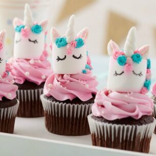 How to make fondant - unicorn cupcakes