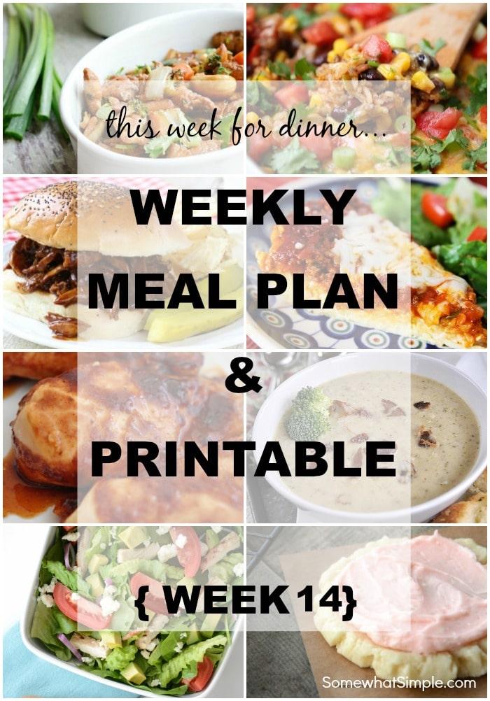 Weekly Menu Plan 14