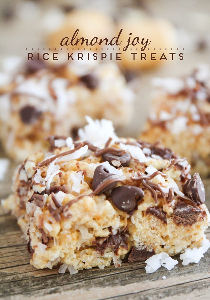 Almond Joy Rice Krispie Treats