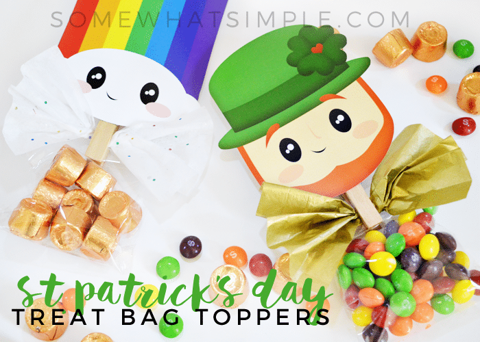 cute treat bag toppers