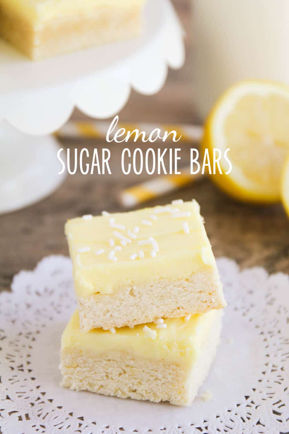 These sugar cookie lemon bars have all the deliciousness of sugar cookies, but without the rolling and cutting.  This tasty lemon bars recipe is topped with a to-die-for lemon buttercream! #dessert #dessertrecipes #easyrecipe #lemon #sugarcookies #recipeideas  via @somewhatsimple
