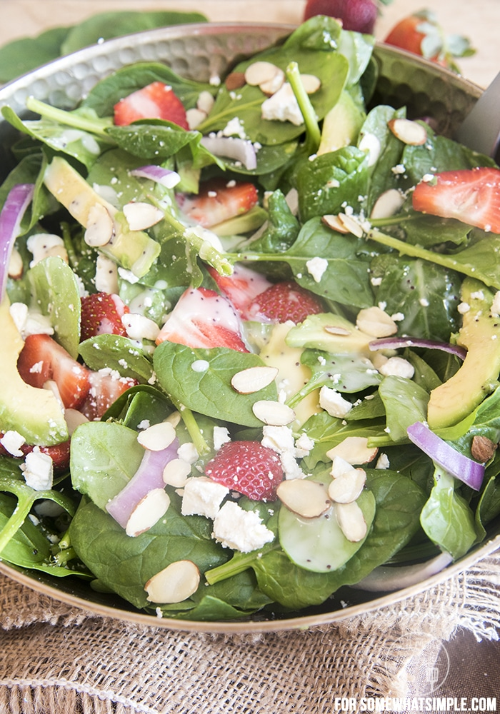 strawberry avocado salad A