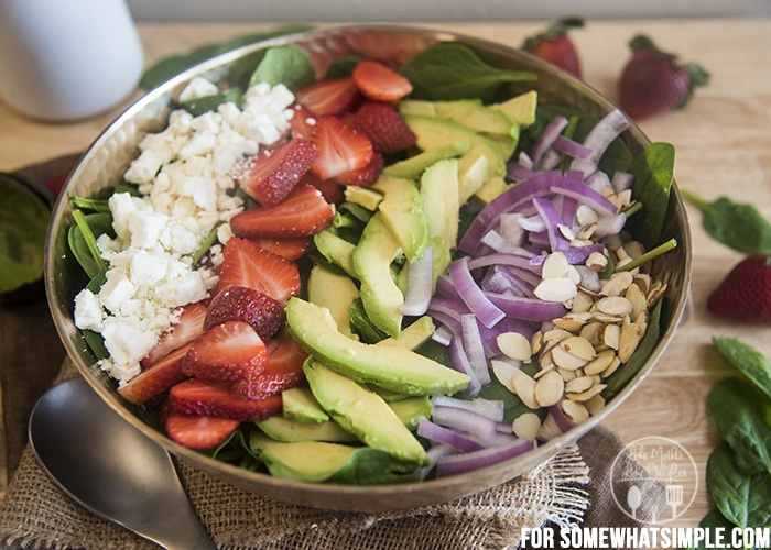 strawberry avocado salad B