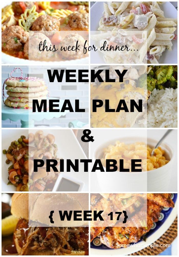 weekly menu plan 17