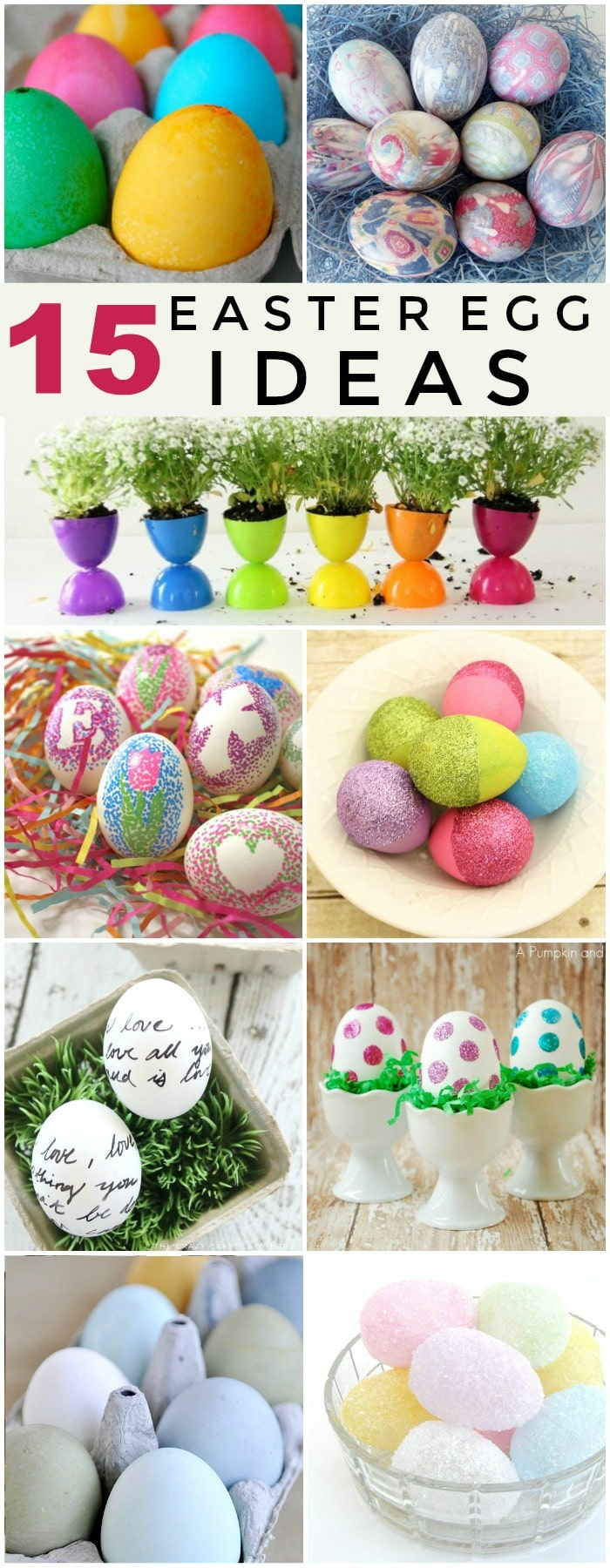 Creative Easter Eggs - 15 Easter Egg Decorating Ideas