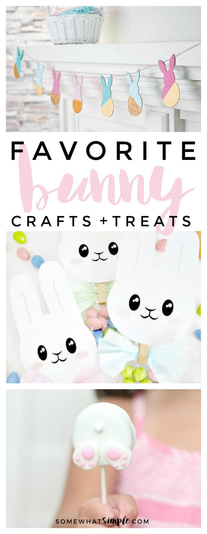 There's no better way to welcome Spring than by creating a few Easter Bunny Crafts!Here are some easy bunny crafts you can make to celebrate Easter! via @somewhatsimple
