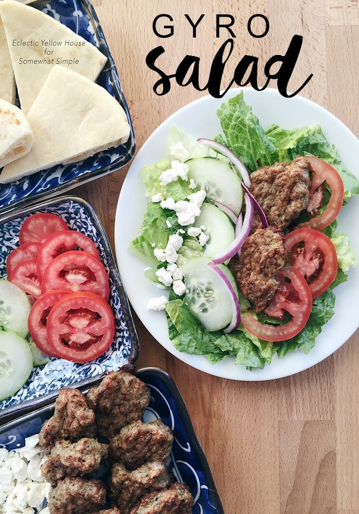 Gyro Salad Recipe - Somewhat Simple