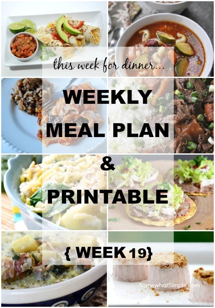 Weekly Menu 19