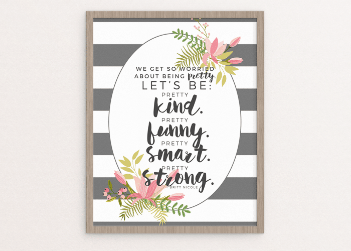 Let's Be Pretty…  Free Printable