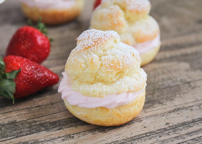 Easy Strawberry Cream Puffs | from Somewhat Simple