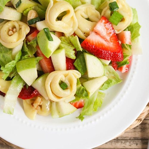 summer tortellini apple salad