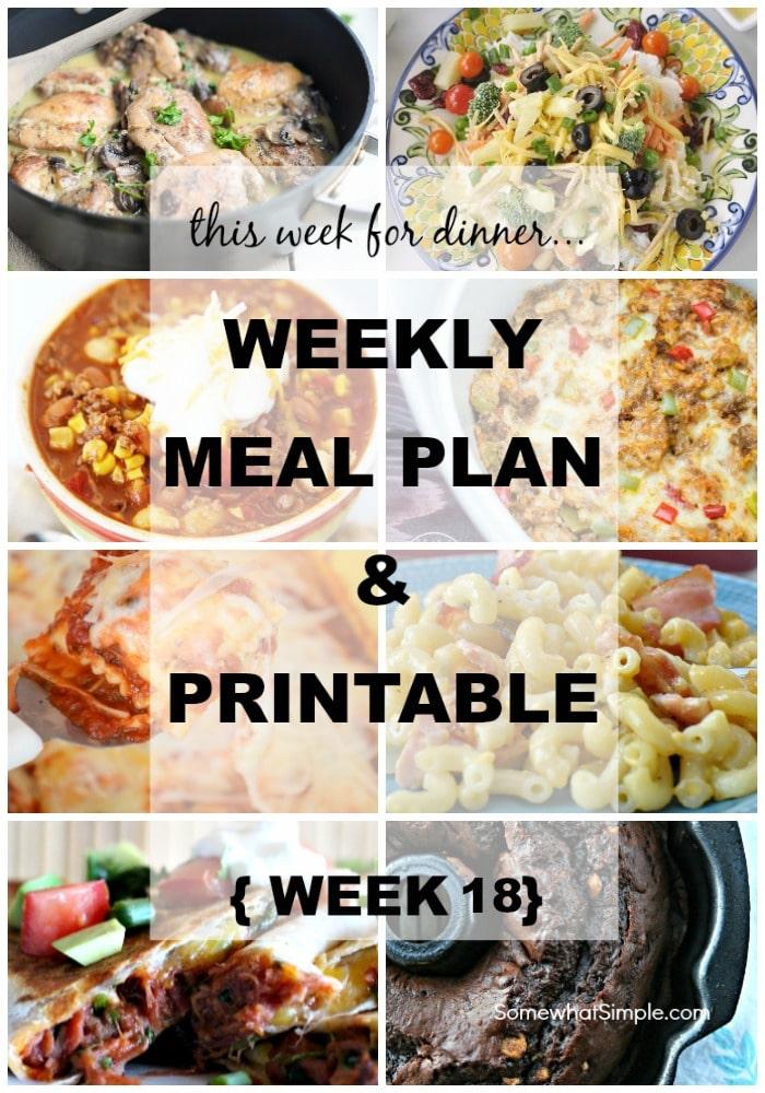 weekly menu plan 18