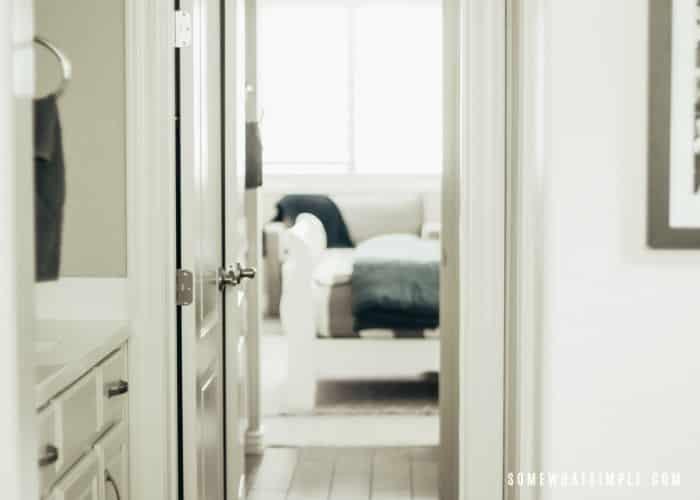 Long Bathroom Wall with 2 vanities