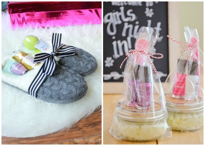 cute bath slipper and facial scrub diy gifts for girls