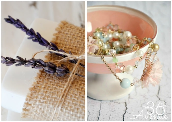 diy lavender soap and jewelry box gifts ideas for girls that they will love