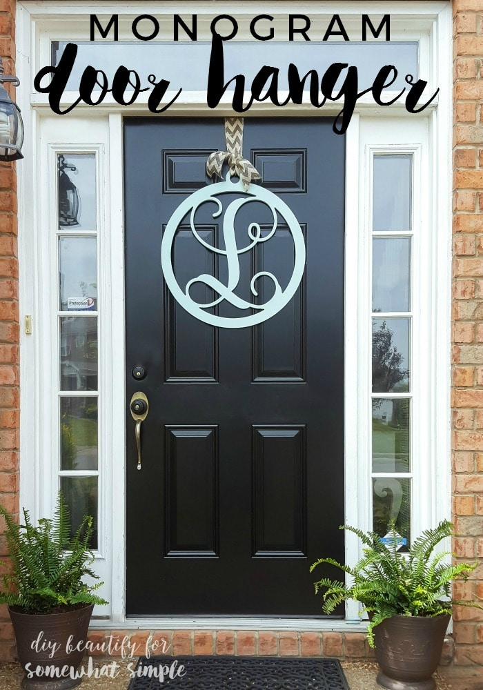 Monogram Door Hanger Wreath Somewhat Simple