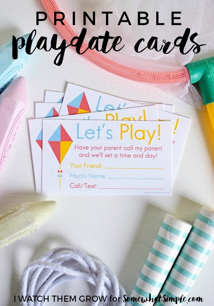 Printable Playdate Cards