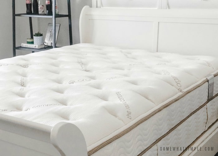 the best mattress. a queen sized saatva mattress that is comfy and clean