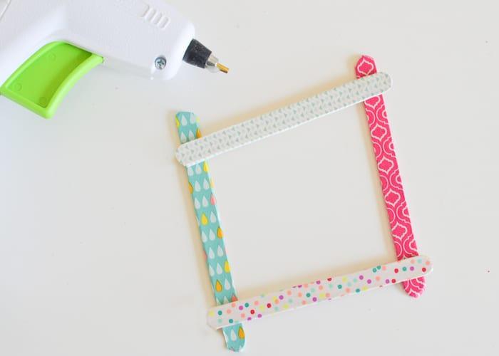 Washi Tape Popsicle Stick Frames