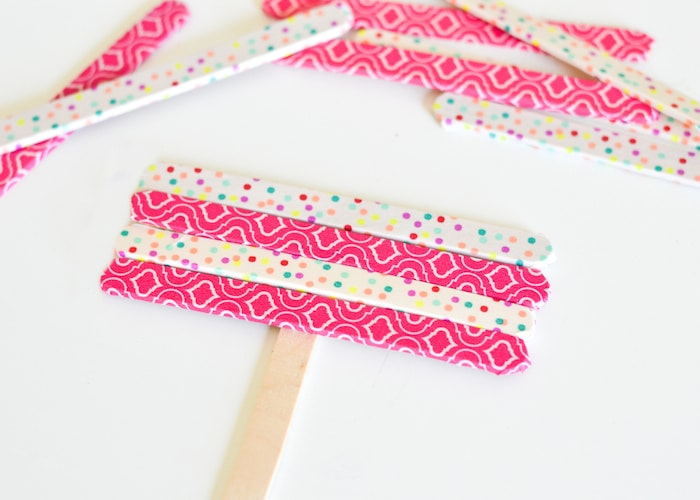 Washi Tape Popsicle Stick Frames-3