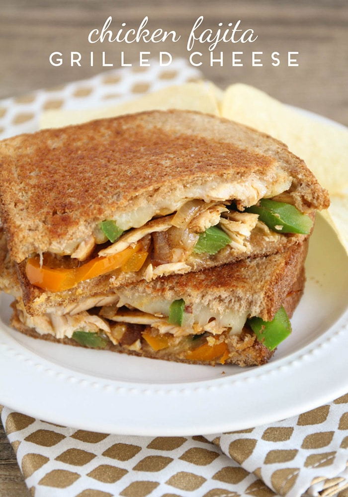 Chicken Fajita Grilled Cheese Sandwiches