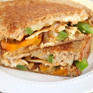 Chicken Fajita Grilled Cheese