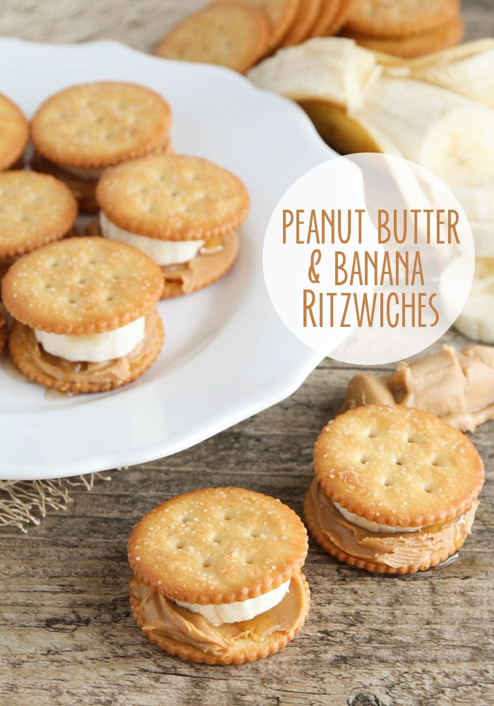 These peanut butter banana cracker are the perfect snack for any time of day. They are super delicious and so easy to make! #snacks #healthysnacks #snacksforwork #peanutbutterbanana #crackersnacks via @somewhatsimple