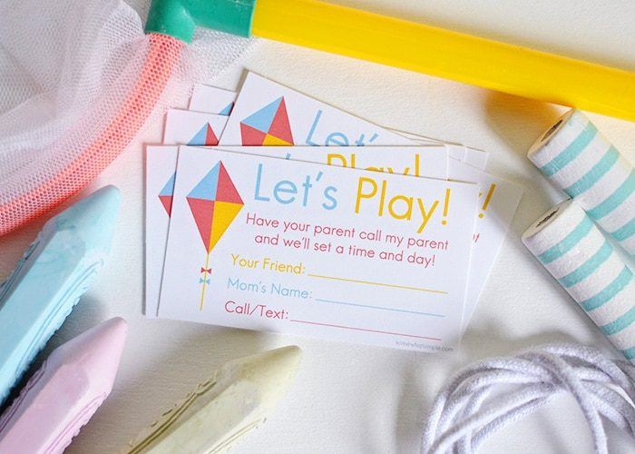 Printable Playdate Invite Cards