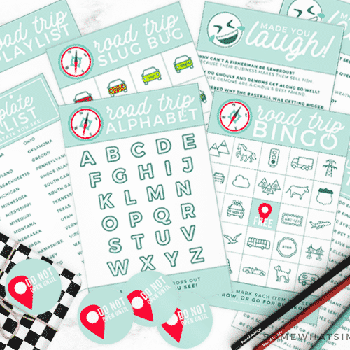 printable road trip activities kit family kids travel games