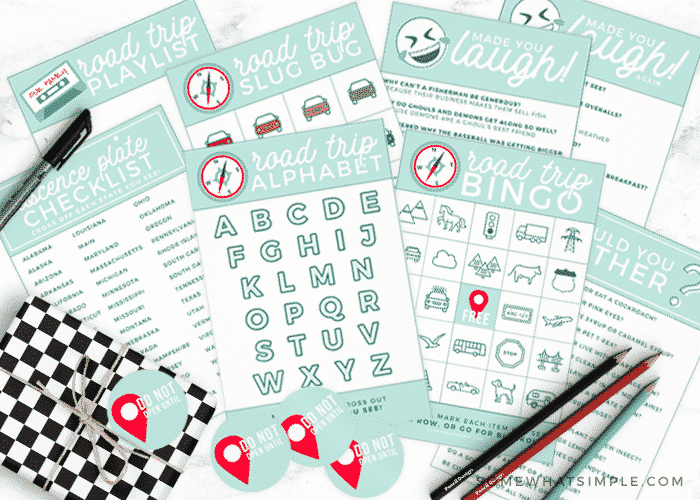 Road Trip Activities Printable Kit