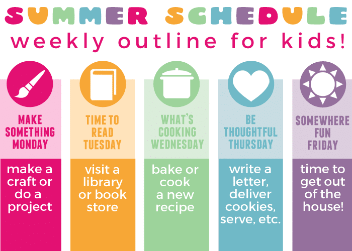 summer schedule for kids main