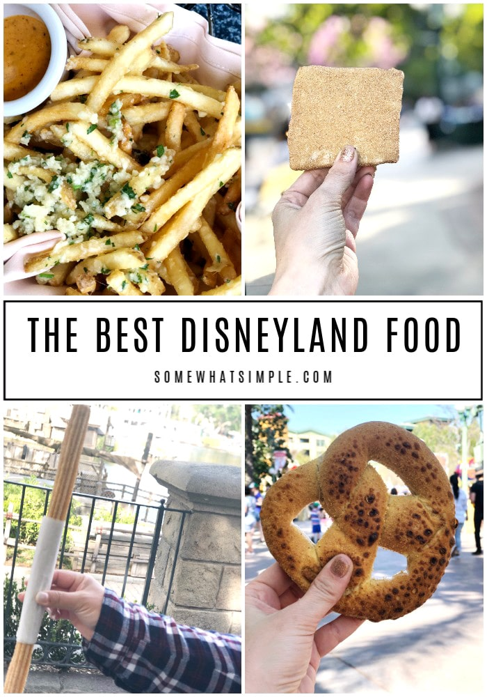 a collage of the best food at disneyland