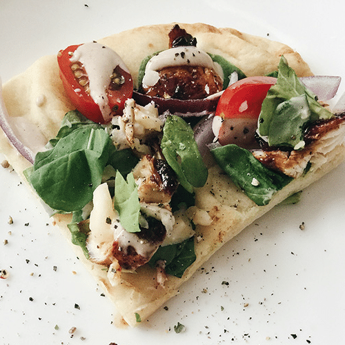 Habanero Chicken Flatbread with Red Onions