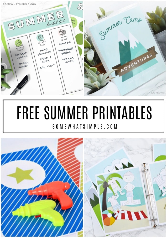 Bring on the POOL PARTIES, bring on the ICE CREAM, bring on the FREE PRINTABLES!!!The CUTEST Summer printables ALL IN ONE PLACE! #SummerPrintables #Summer #FreePrintables #Free #Activities via @somewhatsimple
