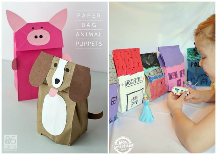 Simple Paper Bag Crafts