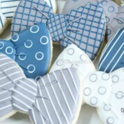 blue and gray tie cookies