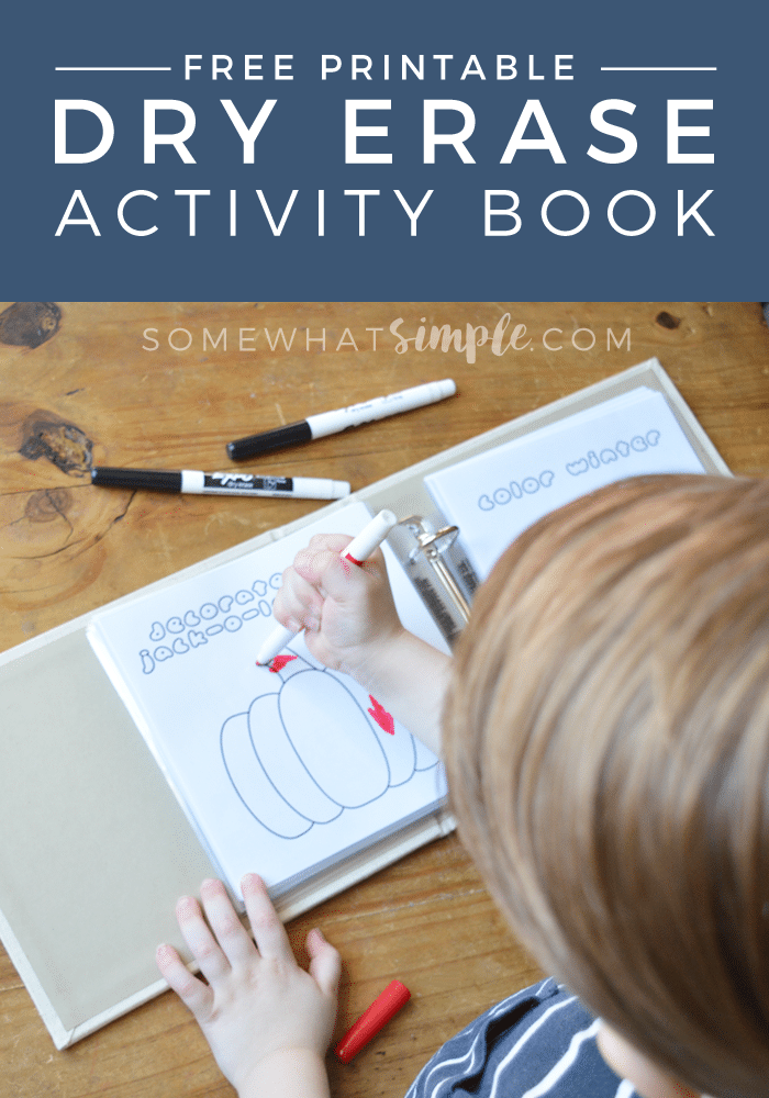 dry erase activity book free printables