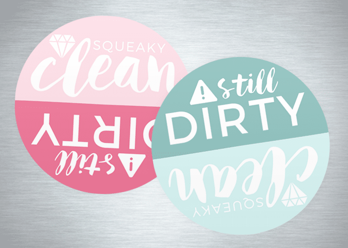 clean or dirty dishes printable
