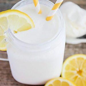 Frosted Lemonade in a mason jar