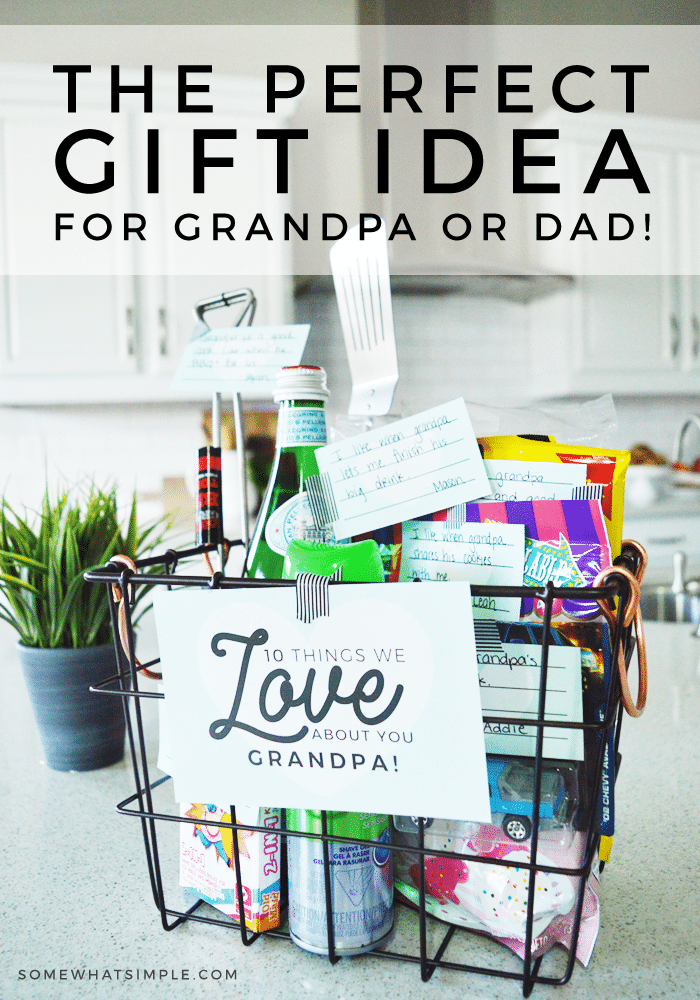 This is a fun, meaningful gift for dad or grandpa.  You can put this together with the kids in no time! And you'll have as much fun making it as he does opening it! #fathersdaygift #giftsforguys #fathersdayideas #giftideas via @somewhatsimple