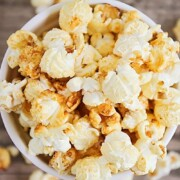 a bowl of Homemade Kettle Corn