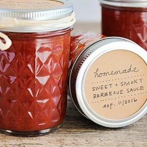 jars of Homemade Barbecue Sauce