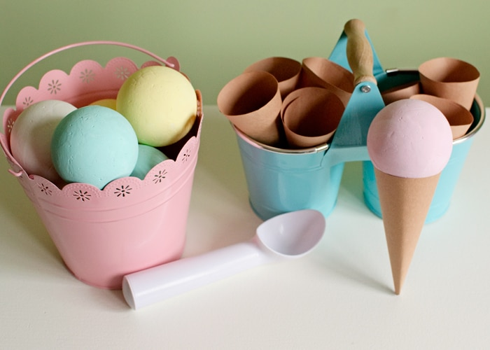 This is a great idea for a craft and activity for the kids this summer! It's easy to make and looks like so much fun! - Ice cream cone craft from somewhatsimple.com