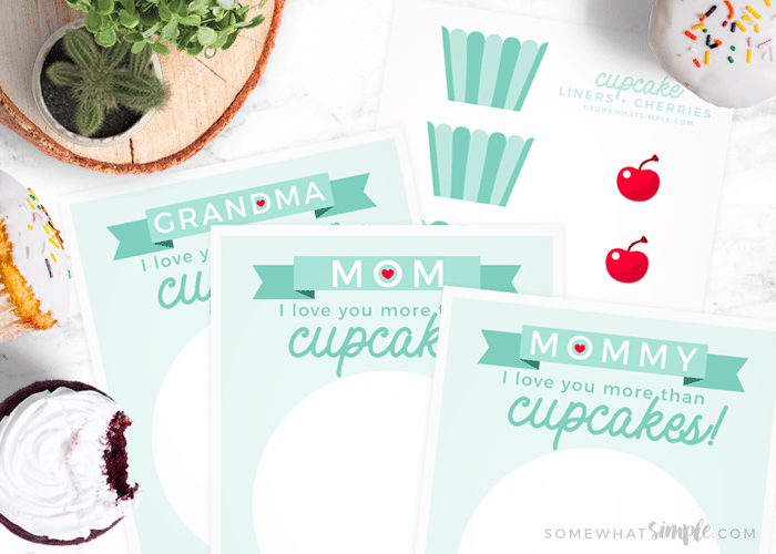 Cupcake Handprint Gift For Mother S Day Free Printable Craft