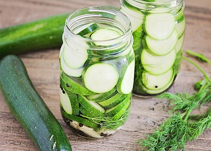 Pepper and Garlic Zucchini Pickles