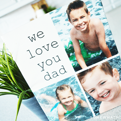 personalized canvas gift idea for fathers day