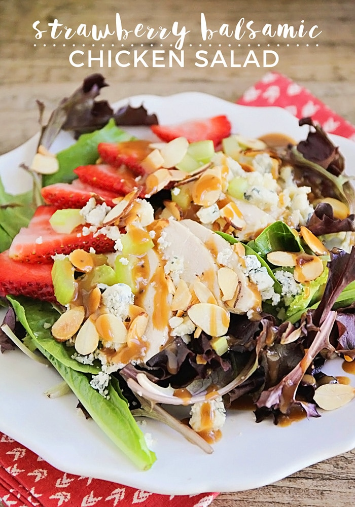 Strawberry Balsamic Chicken Salad
